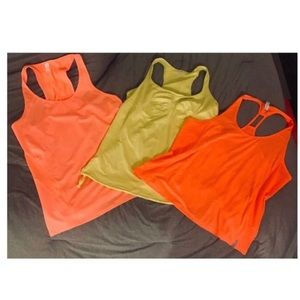 Lot of 3 UNDER ARMOUR/GAP FIT Workout Tanks